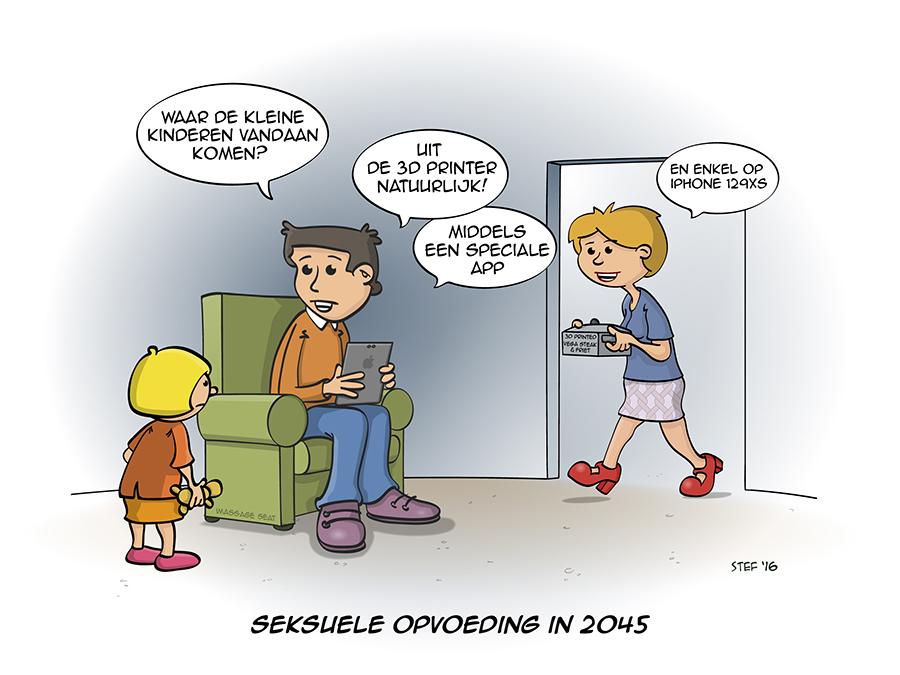 Seksuele opvoeding in het jaar 2045.