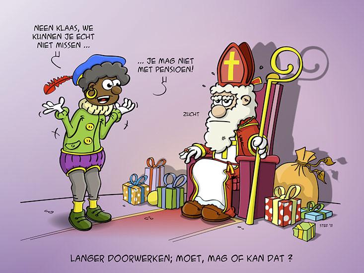 Sinterklaas en zijn pensioen.