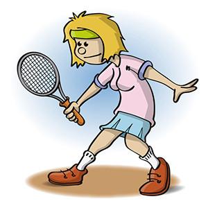 Illustratie van een tennister