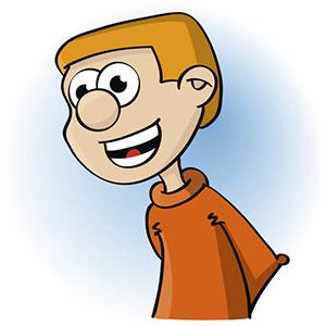 illustratie van een lachende jongen