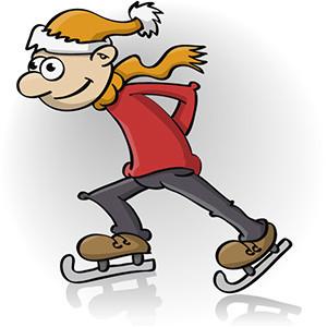 illustratie; schaatser