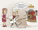 cartoon; Met tijgerbrood moet je opletten als het net uit de oven komt.