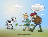 Cartoon Boer zoekt vrouw; uiterlijke is niet belangrijk