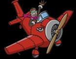 Illustratie van een vliegtuig.