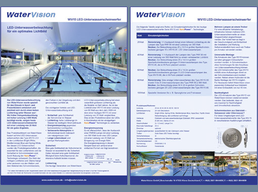 Brochure, folder, watervision